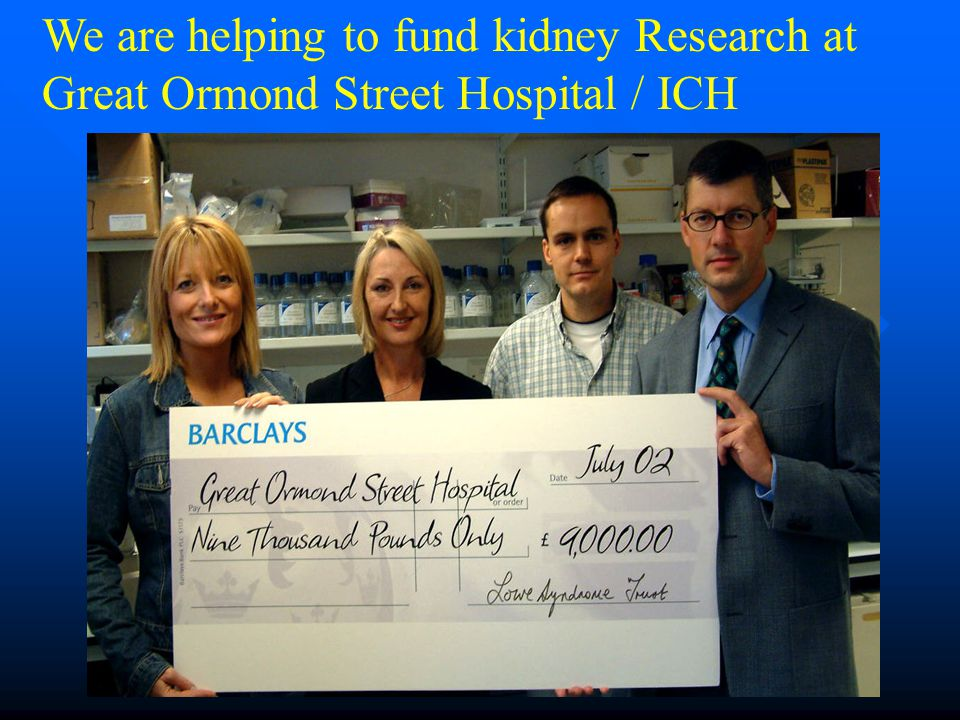 We are helping to fund kidney Research at Great Ormond Street Hospital / ICH