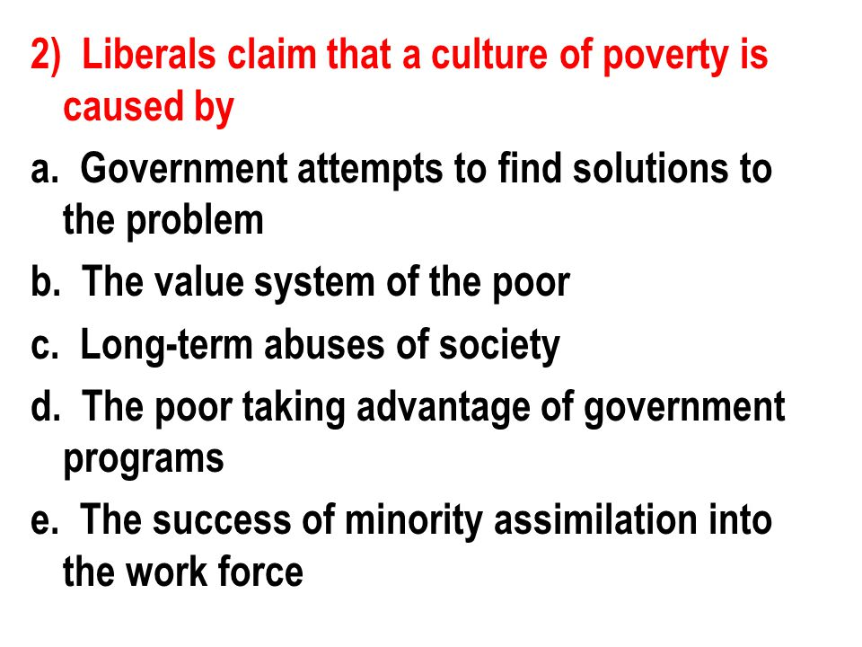 6) Which of the following philosophies was behind the attempt to create a safety net for individuals.