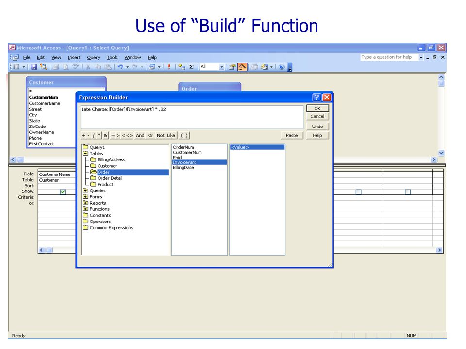 Use of Build Function