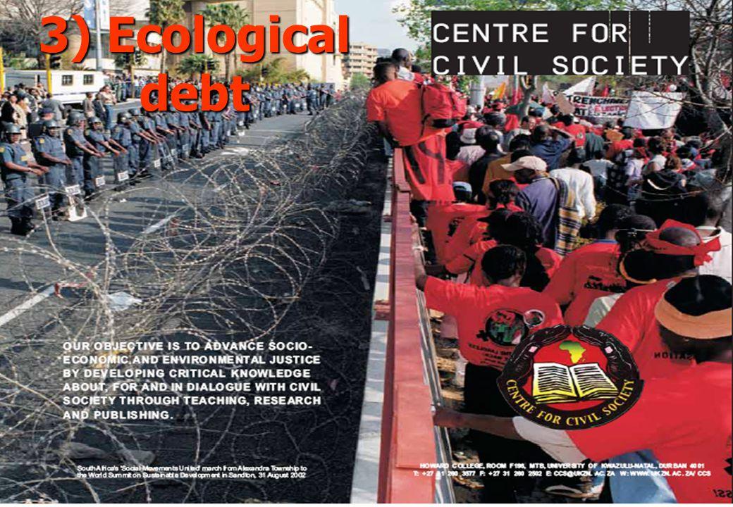 3) Ecological debt