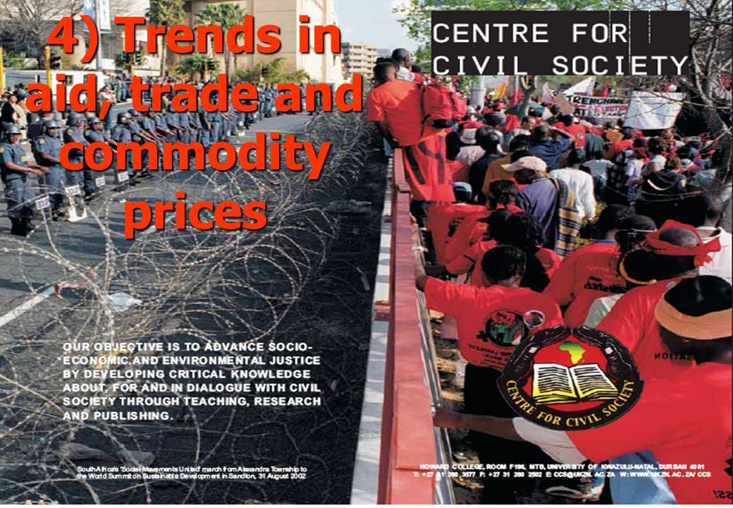 4) Trends in aid, trade and commodity prices