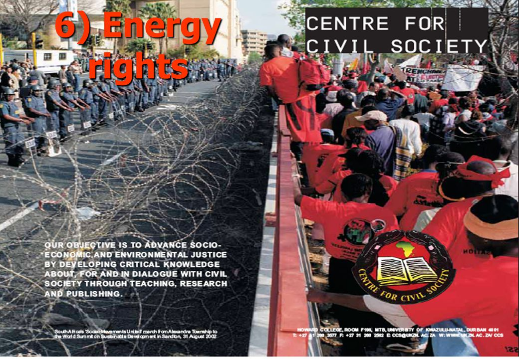 6) Energy rights