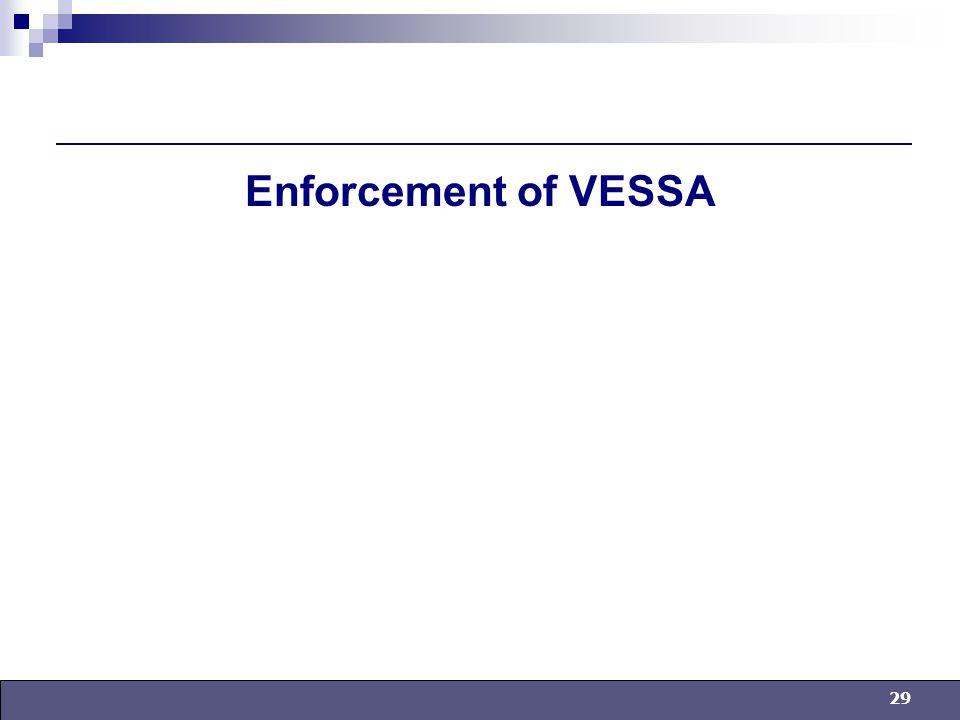 29 Enforcement of VESSA