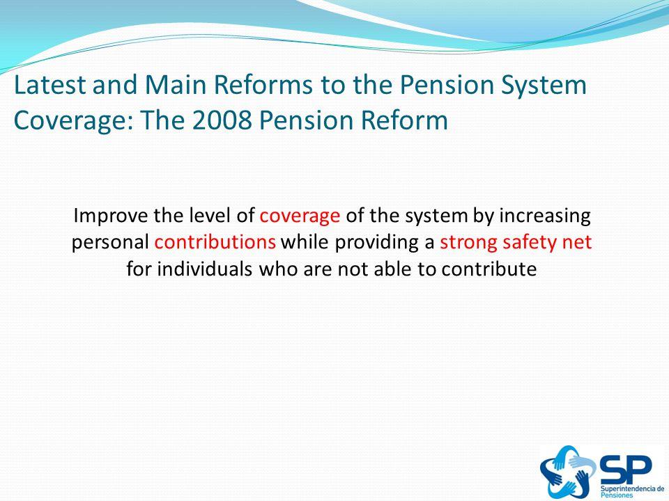 A More Integrated Pension System MANDATORY CONTRIBUTIONS VOLUNTARY PILLAR SOLIDARITY PILLAR