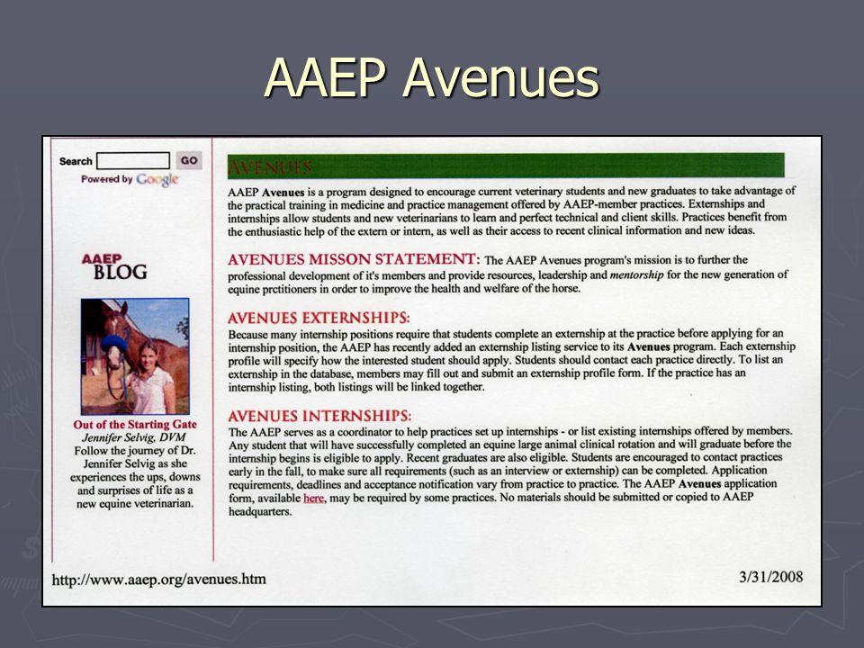 AAEP Avenues