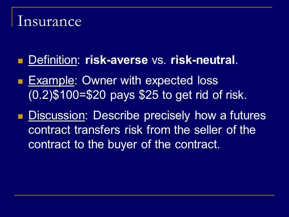 Alternate Intro Anecdote Insurance Company X provides group disability insurance products to businesses, who in turn offer the product to their employees Pricing policies to prevent a loss is difficult since the company has poor information about how which customers are high-risk (likely to file a claim)  If policies are priced too low, high-risk clients will be attracted and losses incurred.