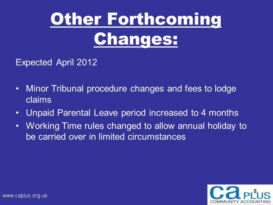 9 Pensions: Auto-Enrolment Starting in October 2012: Implementation of the Pensions Act 2008.