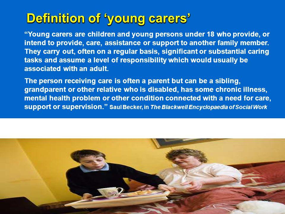 Caring tasks 199519972003 Domestic 65%72%68% General & nursing 61%57%48% Emotional 25%43%82% Intimate 23%21%18% Child care 11%7%11% Other 10%29%7%