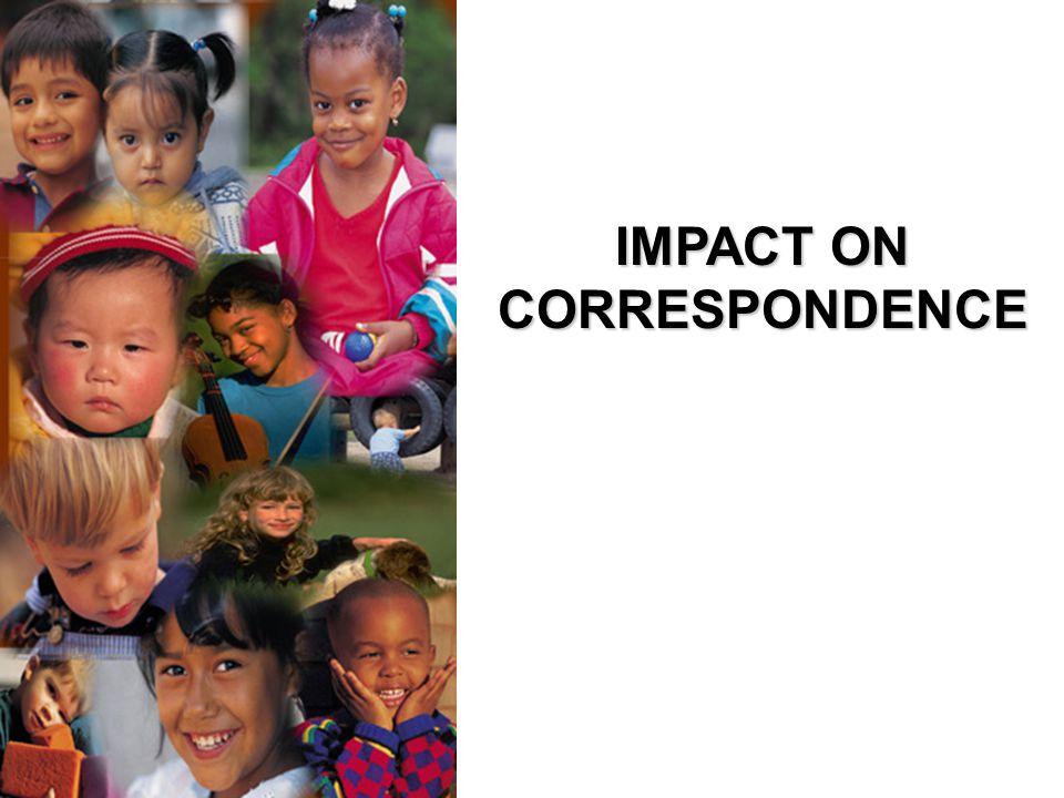 IMPACT ON CORRESPONDENCE