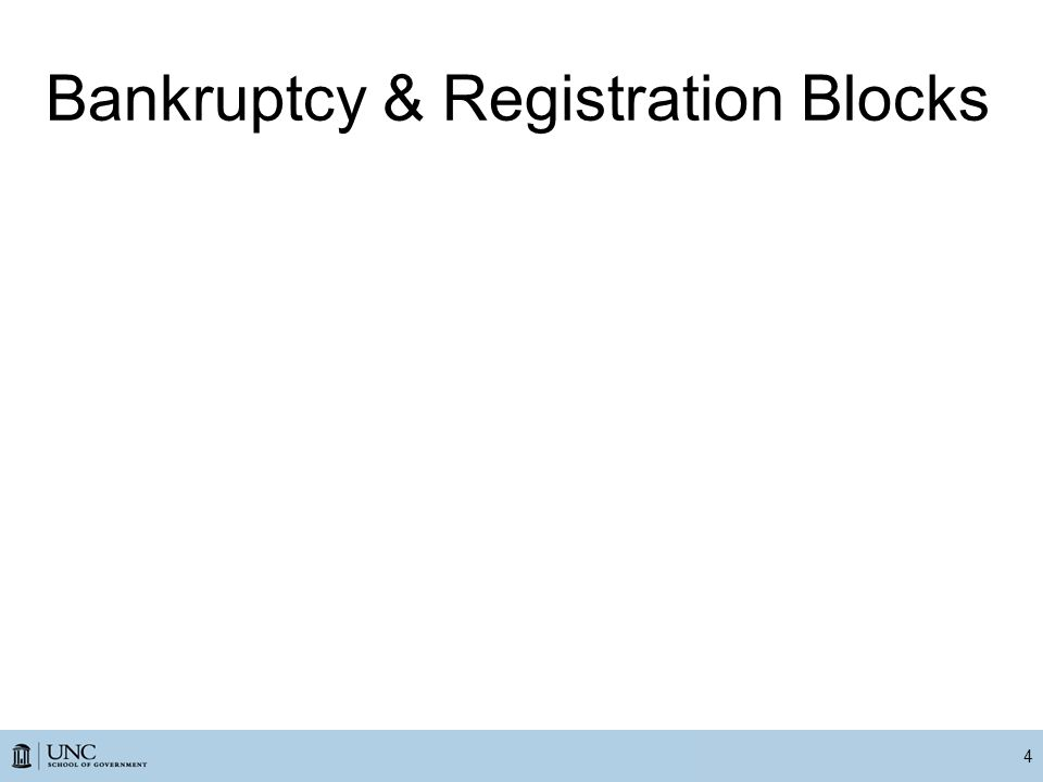 Bankruptcy & Registration Blocks 4