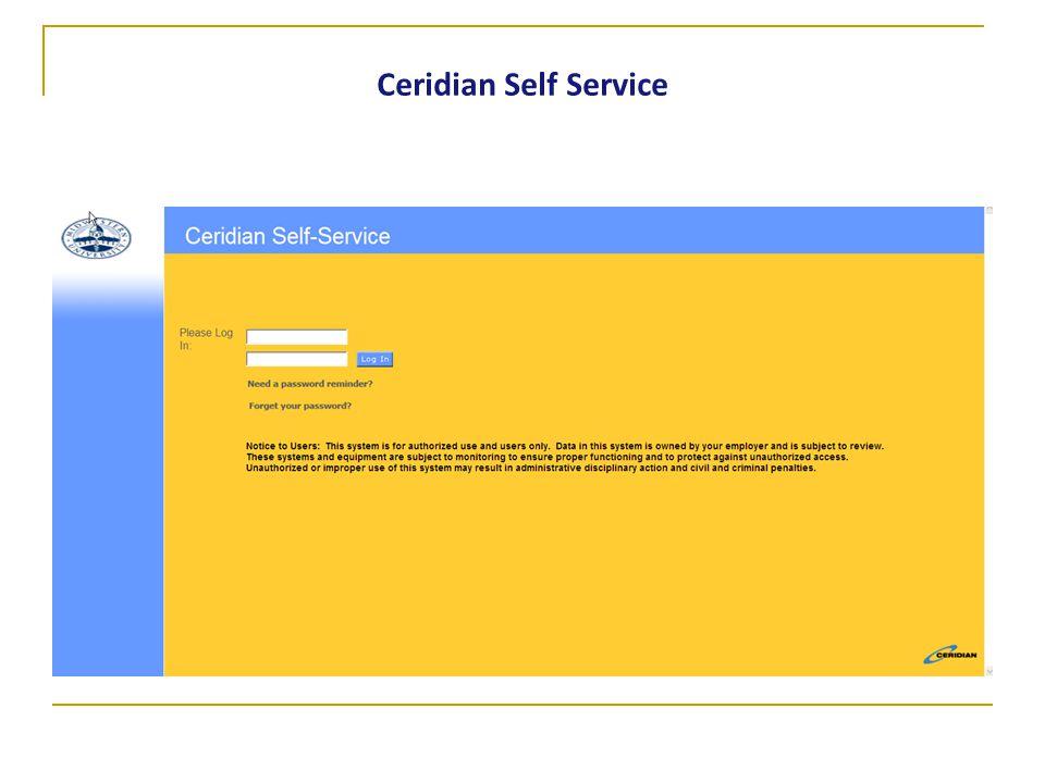 Ceridian Self Service