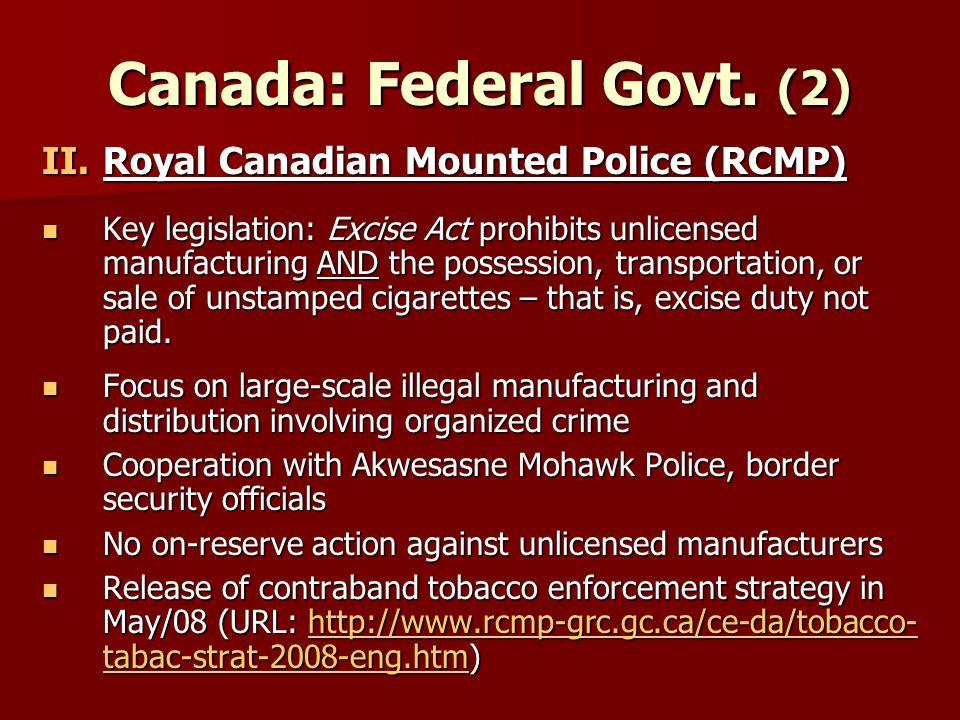 Canada: Federal Govt.