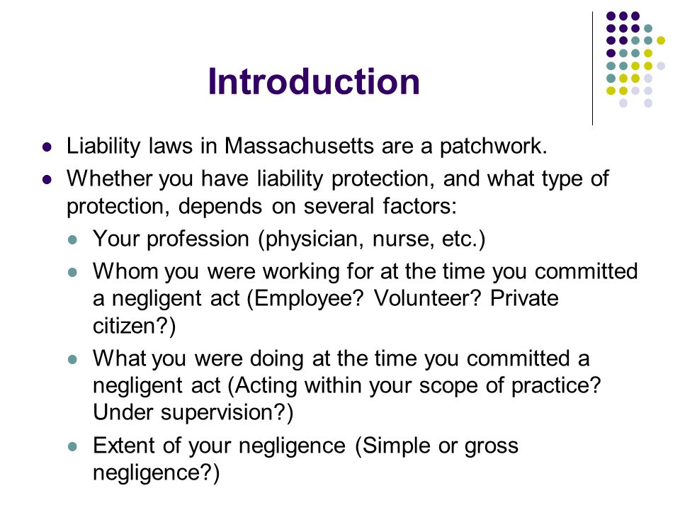VII.Miscellaneous Protections Elder care counselor: M.G.L.