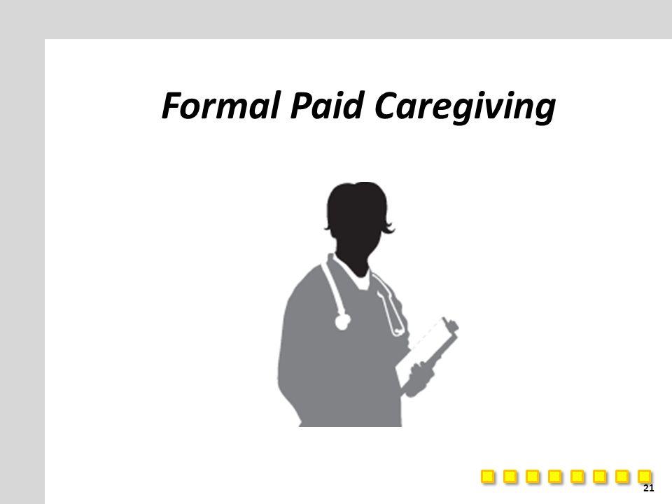 Formal Paid Caregiving 21