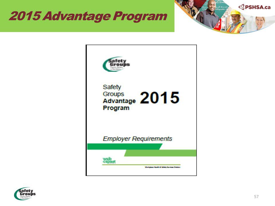 2015 Advantage Program 57