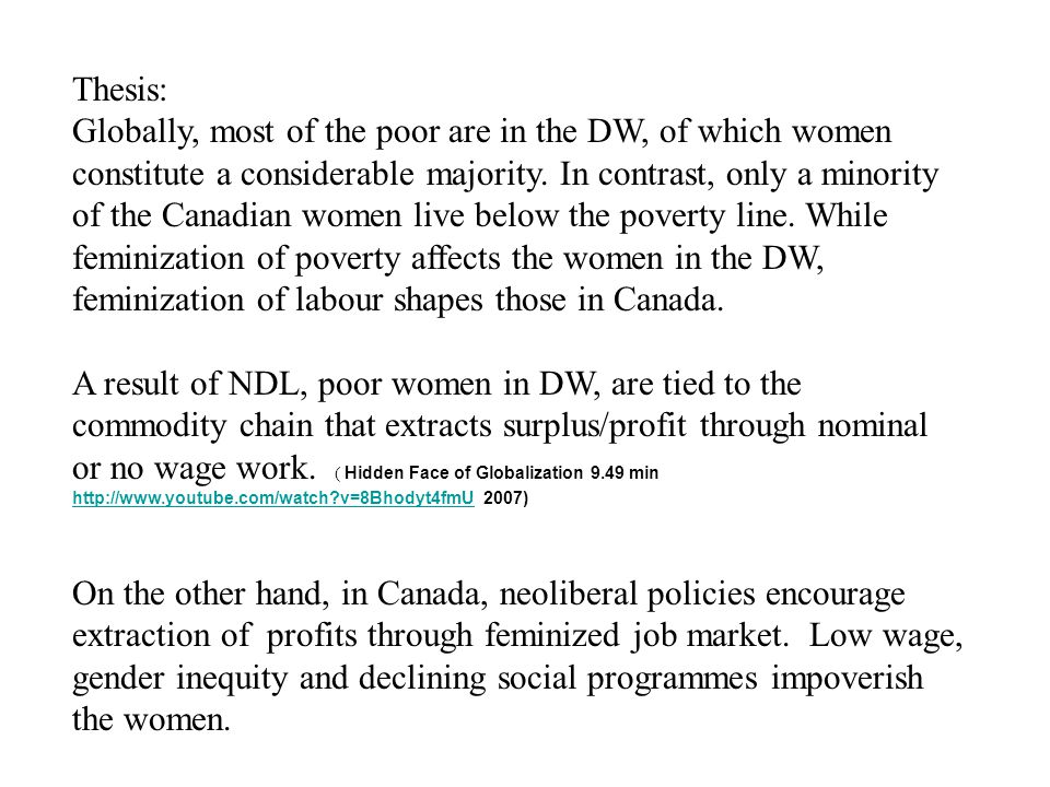 Periphery: DW A Report (2005): Women And The World Economy: Hope For The Future.