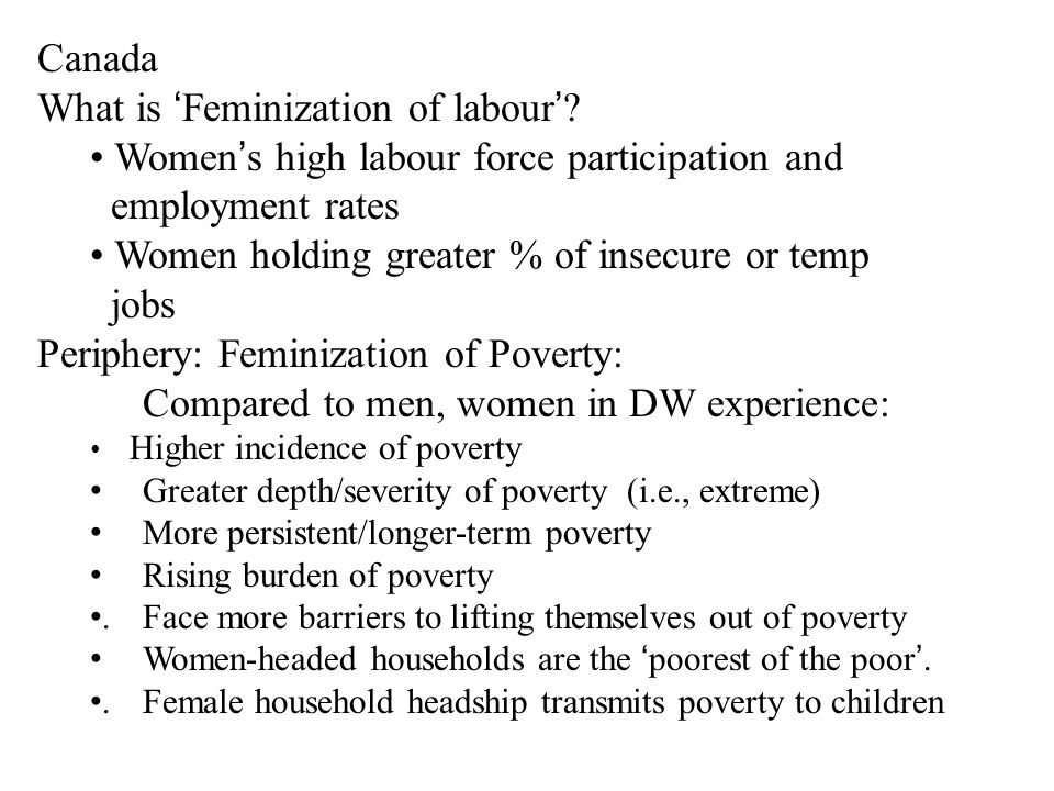 Feminization of labour: Annual growth rate in labour force: OECD countries (1983 to 1992): 2.1% for econ.
