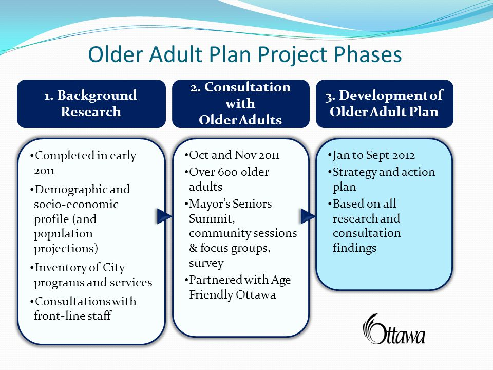 Older Adult Plan Project Phases 1. Background Research 2.
