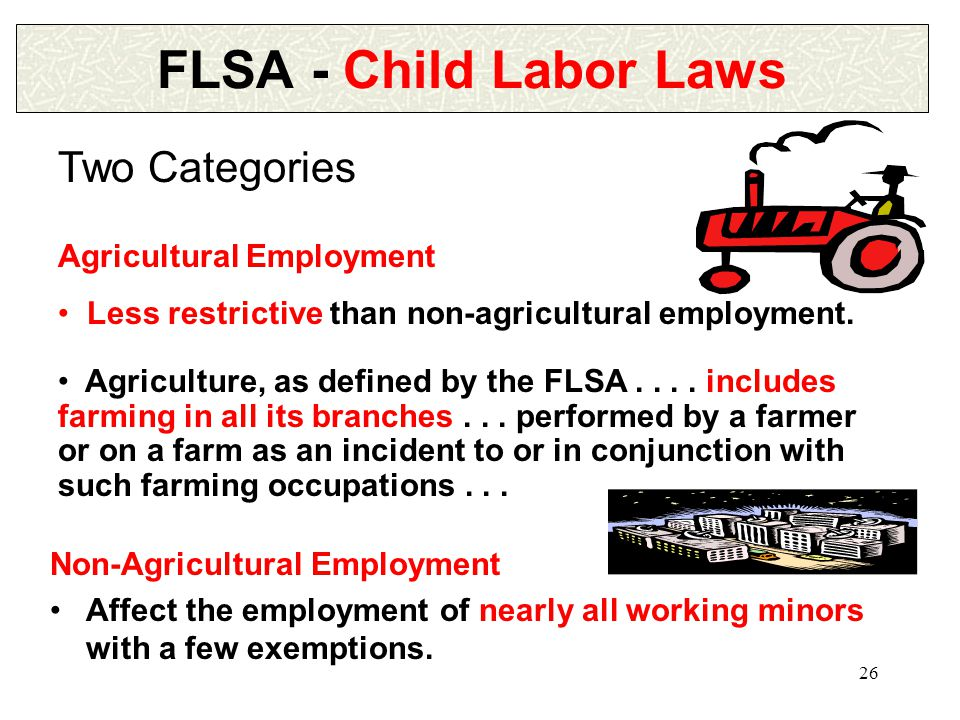 25 FLSA - Wage and Hour Law PAID WORK EXPERIENCES 4.Apprentices...
