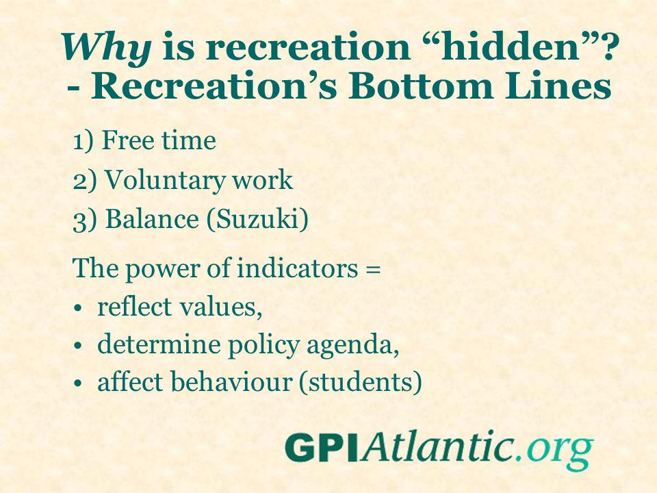 Recreation is bigger than physical activity....Culture, arts, and more........
