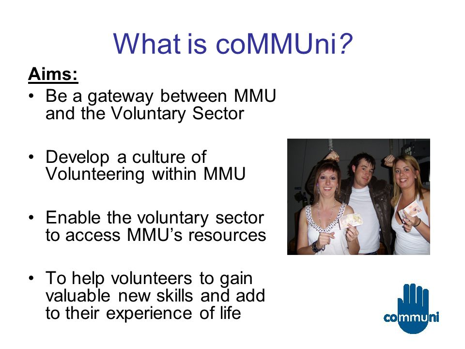 What is coMMUni.