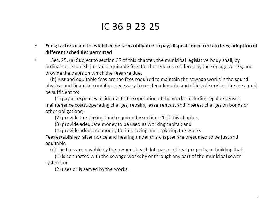 IC 36-9-23-25 Fees; factors used to establish; persons obligated to pay; disposition of certain fees; adoption of different schedules permitted Sec.