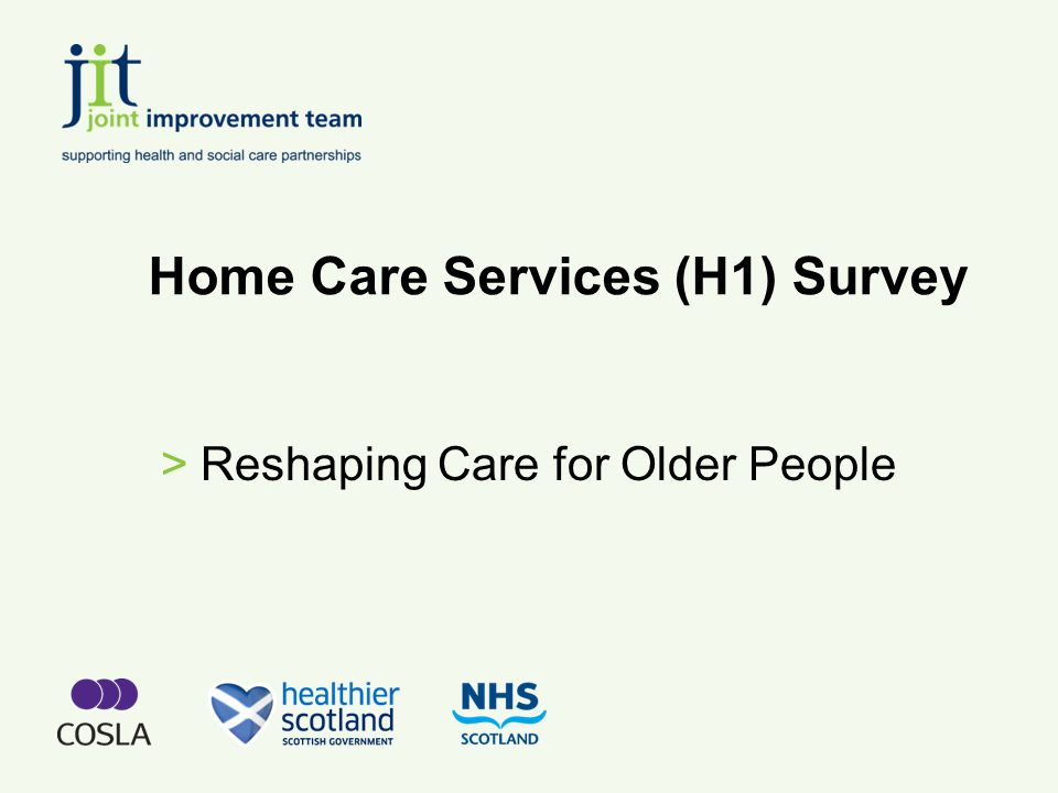 Reshaping Care for Older People >Older people are an asset not a burden >We are adding healthy years to life >We need a shift in philosophy, attitudes and approaches >Services should be outcome focussed >We need to accelerate the pace of sharing good practice >The importance of aligning partnership resources to achieving policy goals >The costs and funding of care