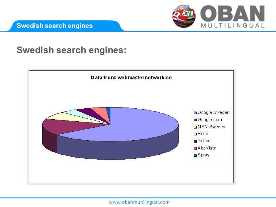 www.obanmultilingual.com Swedish search engines Swedish search engines: