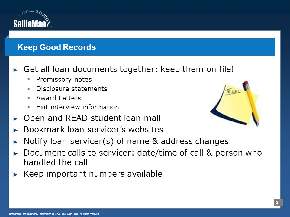 3 Confidential and proprietary information © 2014 Sallie Mae Bank.