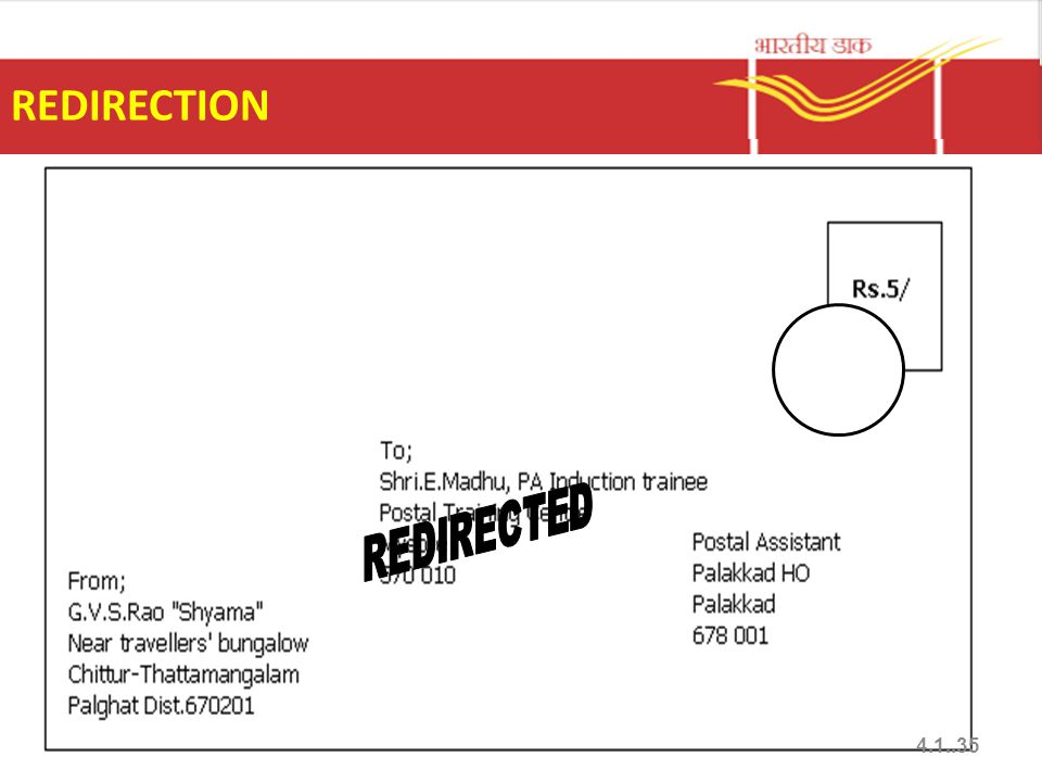 REDIRECTION 4.1..35