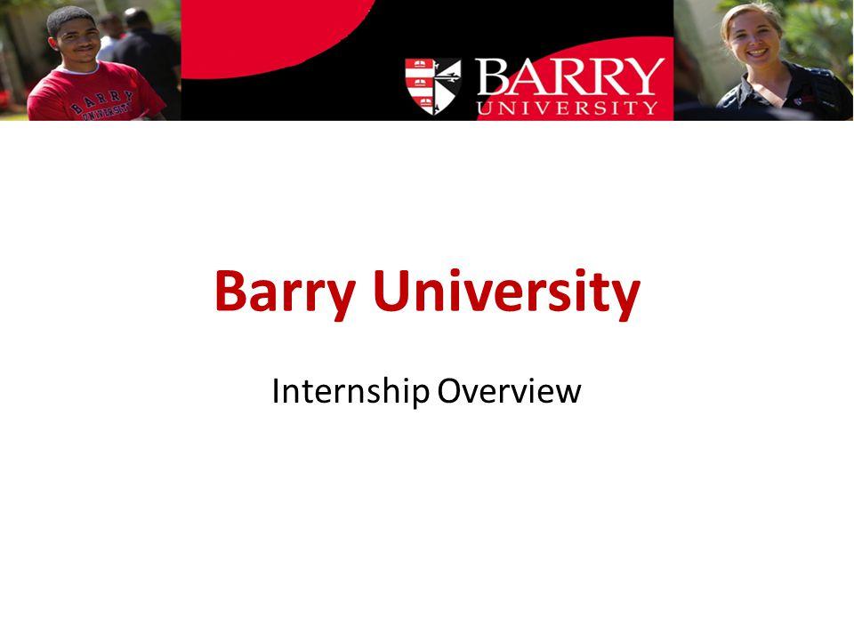 Barry University Internship Overview