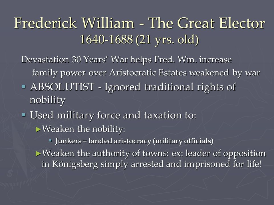 Frederick William - The Great Elector 1640-1688 (21 yrs.