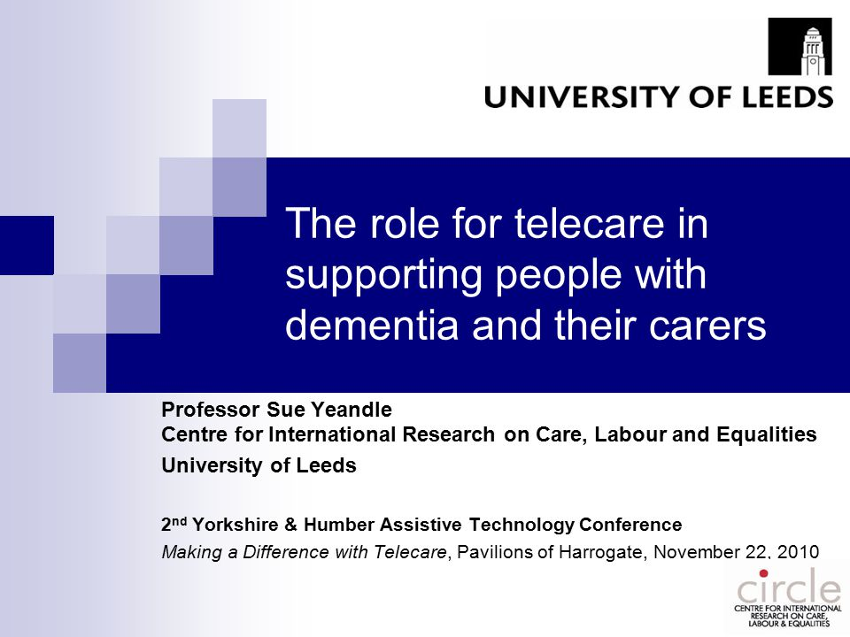 Concluding comments Home-based telecare is highly relevant to the needs of people with dementia (and others with care needs)…..