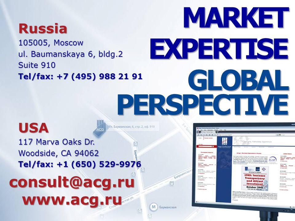 consult@acg.ru www.acg.ru Russia 105005, Moscow ul.