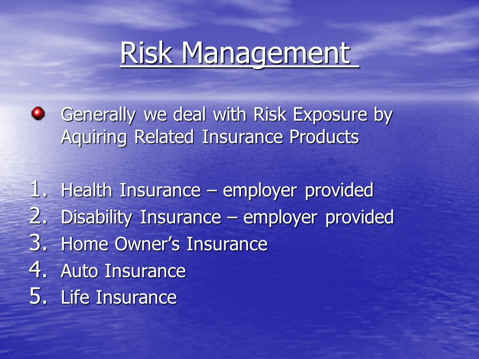 Life Insurance Two Purposes for Life Insurance Coverage 1.