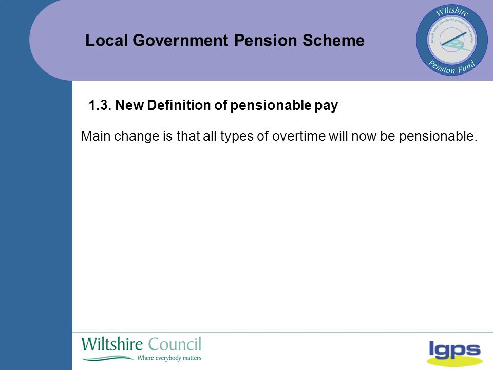 Local Government Pension Scheme 1.3.