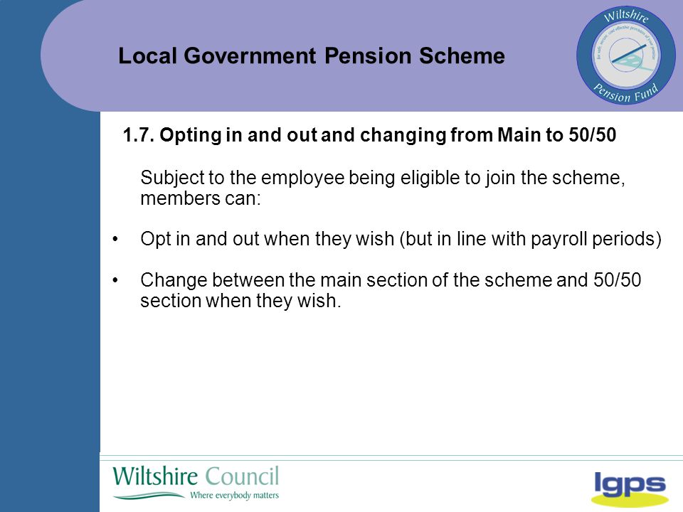 Local Government Pension Scheme 1.7.