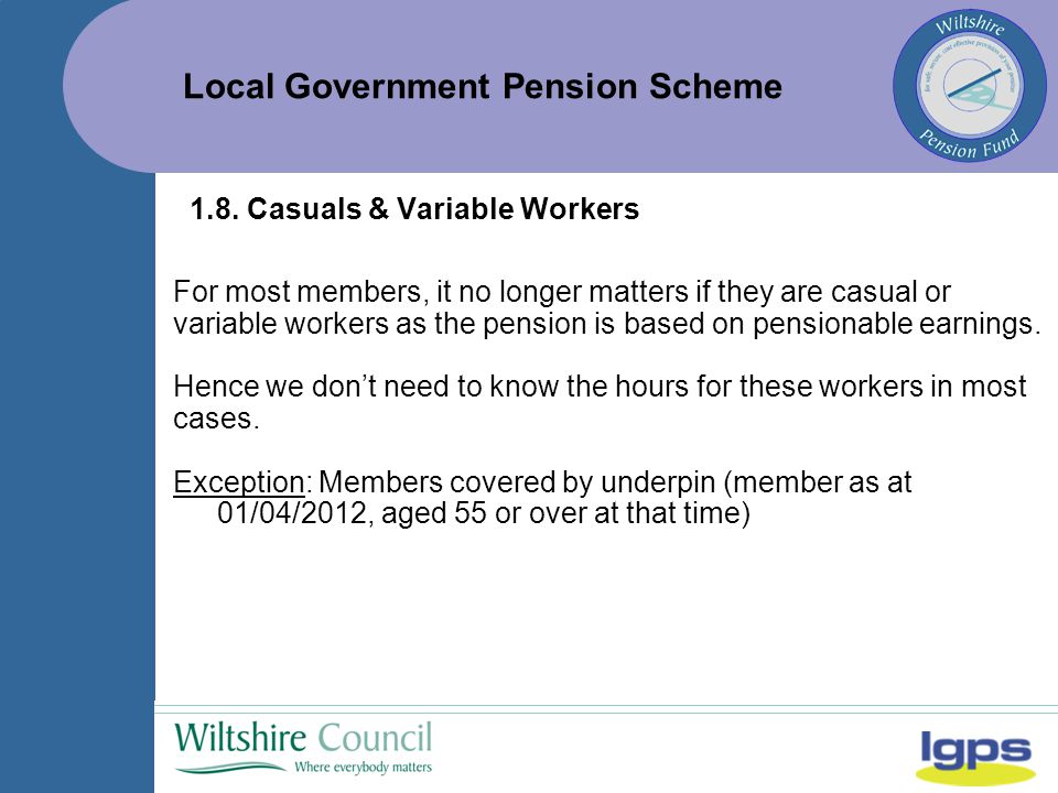 Local Government Pension Scheme 1.8.