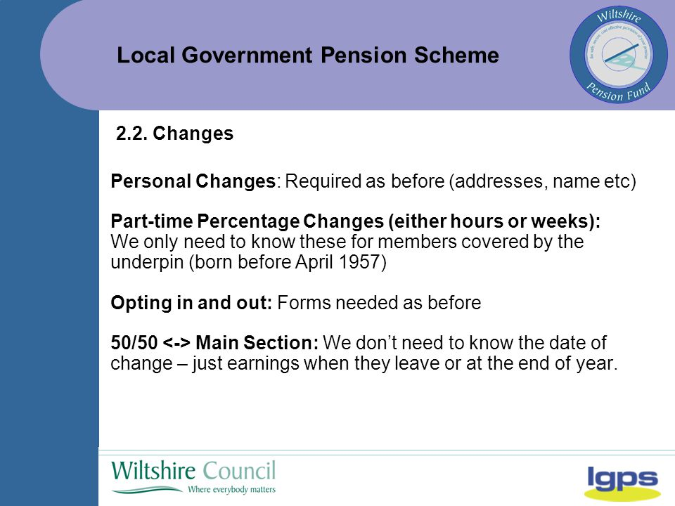 Local Government Pension Scheme 2.2.