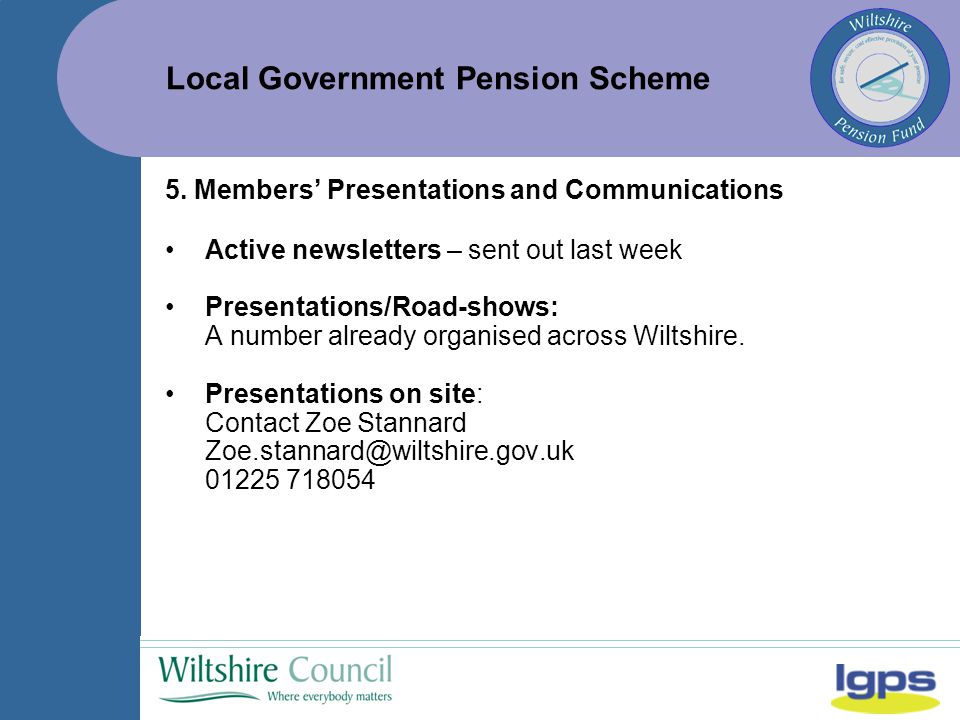 Local Government Pension Scheme 5.