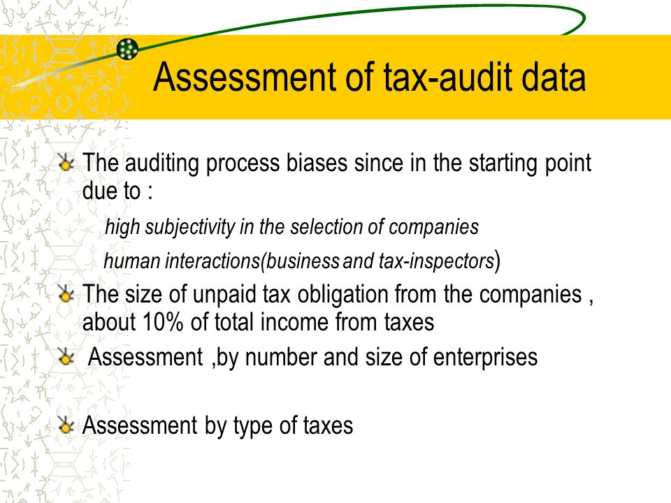Assessment,by number and size of companies Companies by Size class Business registerAudited companies VAT companies Other companies 8928 43017 2973, 33% 5223 12% total51945 8196 16%