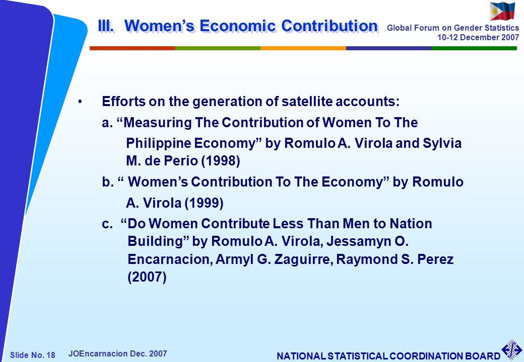 NATIONAL STATISTICAL COORDINATION BOARD Slide No. 18 JOEncarnacion Dec.