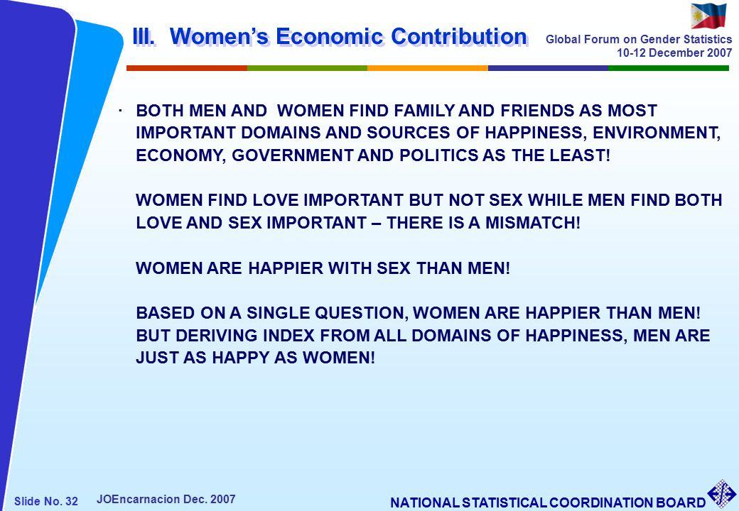 NATIONAL STATISTICAL COORDINATION BOARD Slide No. 32 JOEncarnacion Dec.