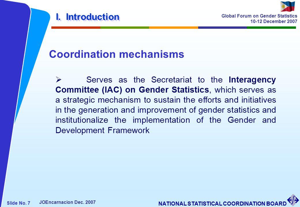 NATIONAL STATISTICAL COORDINATION BOARD Slide No. 7 JOEncarnacion Dec.