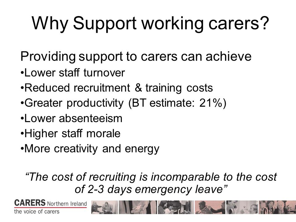 Why Support working carers.