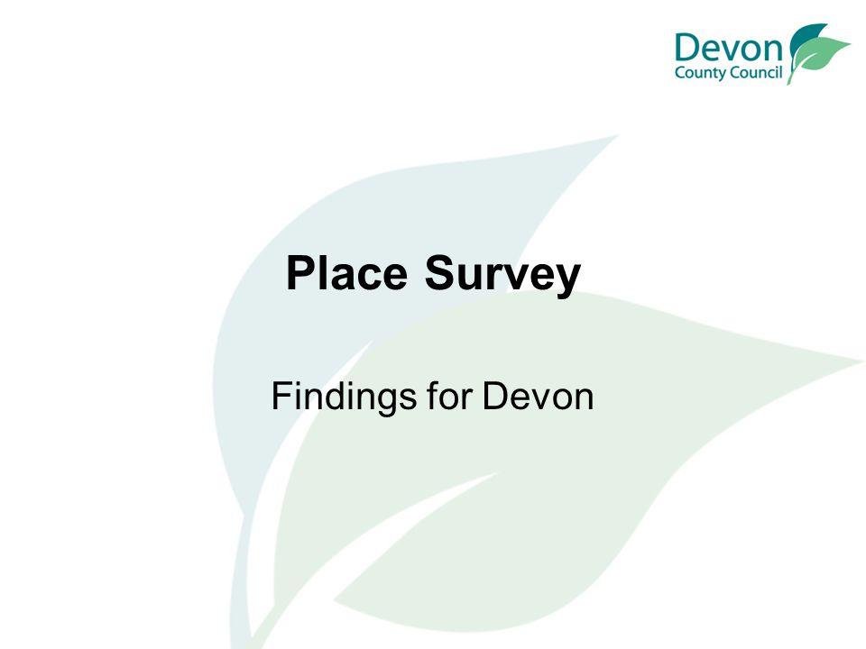 Place Survey Findings for Devon