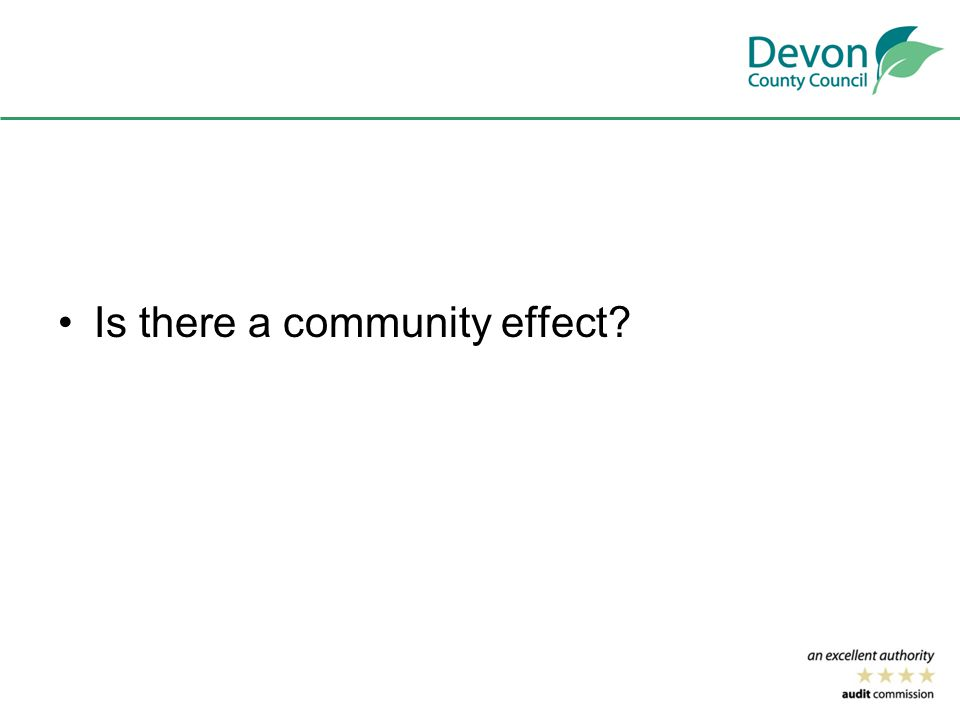 Is there a community effect
