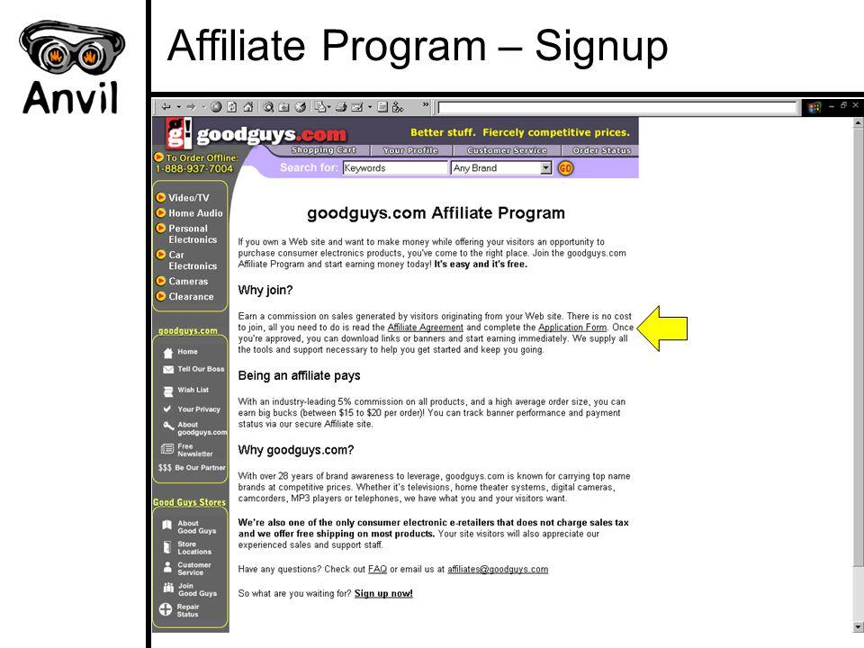 Affiliate Program – Signup