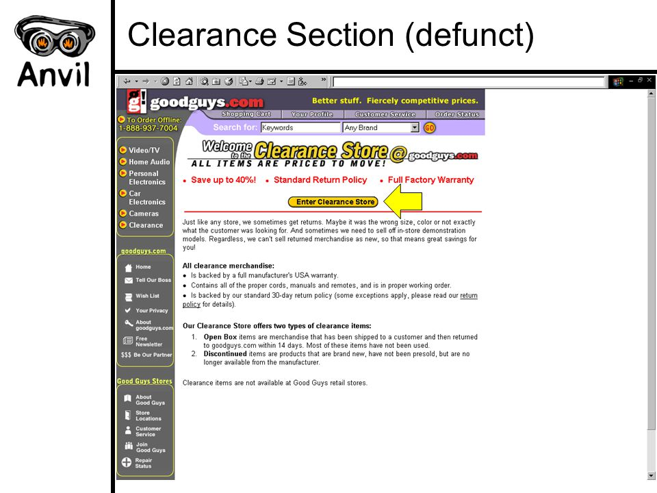 Clearance Section (defunct)