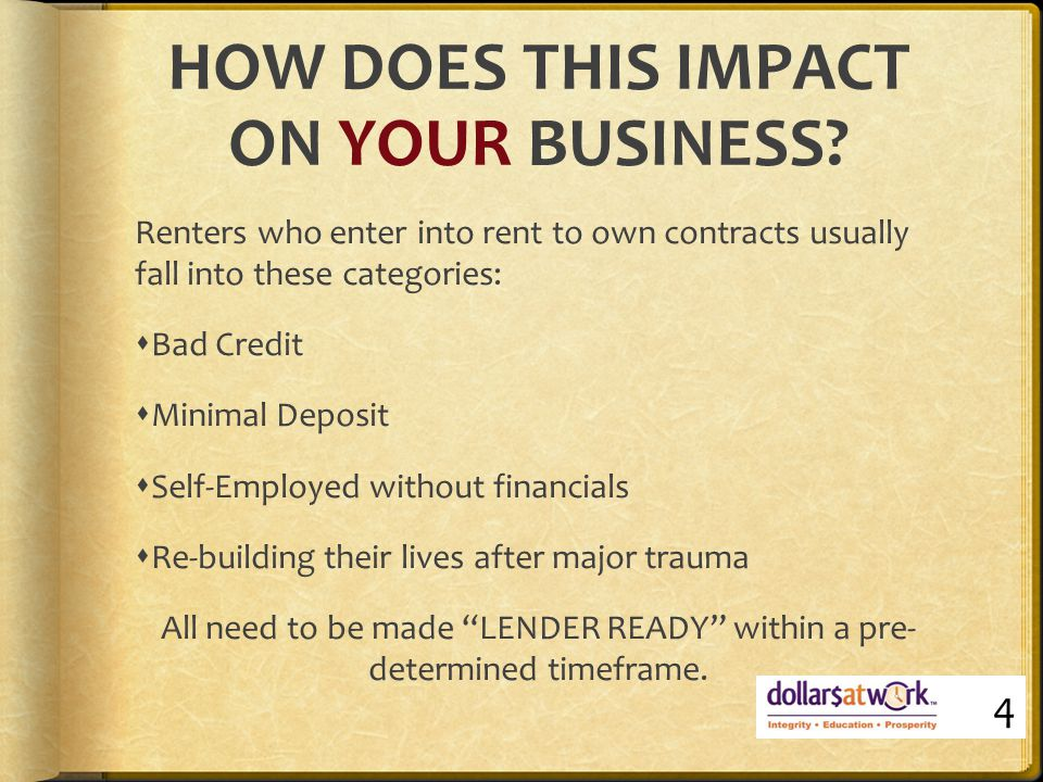 1: BAD CREDIT  Client begins program with one or more DEFAULTS paid or unpaid, then creates more bad debt over the two years until refinance  These remain on credit file for 5-7 years depending on whether they are classified as clearout or not  SOLUTION: work with client to repair or repay debt 25